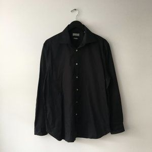 Michael Kors Basic Button Up Shirt Black Slim Fit